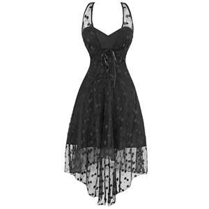 Punk Dress, Victorian Vintage Wedding Lace Party Dress, Vintage Dress, #N11950