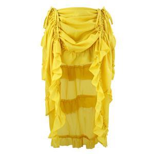 Victorian Steampunk Gothic Short Front Ruffle Skirt N15062
