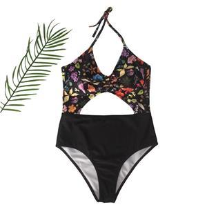 Backless One-piece Swimsuit, Low Cut Bodysuit Lingerie, Sexy Adjustable Straps Swimsuit Lingerie, Fashion Backless One-piece Beachwear, #BK17974