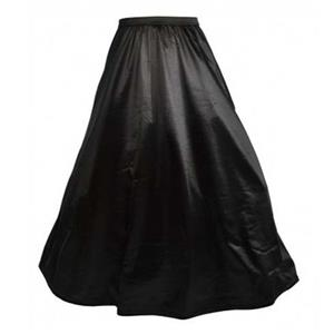 Sexy Black Petticoat, Cheap Ladies Satin Floor-length Petticoat, Dancing Party Petticoat, Plus Size Petticoat, #HG10568