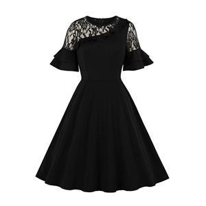 Fashion Casual Swing Dress, Cute Summer Swing Dress, Retro Party Dresses for Women 1960, Vintage Dresses 1950