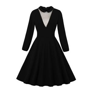 Fashion Casual Swing Dress, Sexy Party Dress, Retro Party Dresses for Women 1960, Vintage Dresses 1950