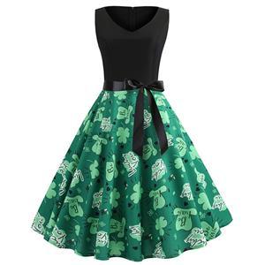 Sexy Cartoon Pattern A-line Swing Dress, Retro Cartoon Pattern Dresses for Women, Vintage Dresses 1950
