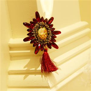 Fashion Christmas Brooch, Fashion Tassel Brooch, Casual Brooch for Women, Girl