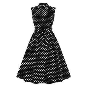 Cute Polka Dots Swing Dress, Retro Polka Dots Dresses for Women 1960, Vintage Dresses 1950