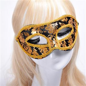 Noble Mysterious Masquerade Party Mask, Halloween Party Masks, Vintage Costume Ball Masks, Retro Gilding Mask, Masquerade Party Face Mask, Charming Flower Eye Mask, Victorian Gothic Gilding Eye Mask, Party Accessory, #MS20000