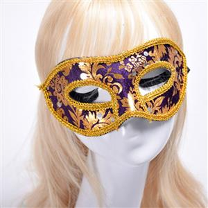 Noble Mysterious Masquerade Party Mask, Halloween Party Masks, Vintage Costume Ball Masks, Retro Gilding Mask, Victorian Gothic Masquerade Party Mask, Charming Flower Eye Mask, Victorian Gothic Gilding Eye Mask, Party Accessory, #MS20005