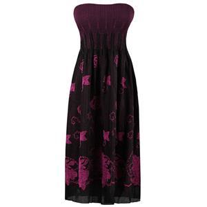 Vintage 2 In 1 Long Skirt Boob Tube Maxi Dress HG11891