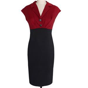 Plus Size Dresses, Cheap Dresses for women, 1950s Vintage Dresses for women, Cocktail party dresses, Evening Dresses, #N12142