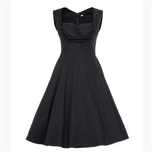 Vintage Dresses for Women, Sexy Dresses for Women Cocktail Party, Casual Vintage High Waist Dress, Sleeveless Swing Daily Dress, Women