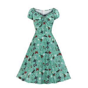 French Maiden Dresses, Cute Summer Swing Dress, Retro Dresses for Women 1960, Vintage Dresses 1950