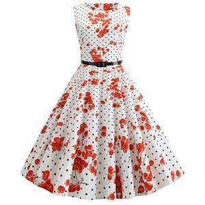 Vintage Dresses for Women, Cocktail Party Dress, Vintage Sleeveless Tank Dresses, A-line Cocktail Party Swing Dresses, Polka Dots Vintage Dress, Round Neck Vintage Day Dress, #N20296