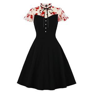 Retro Dresses for Women 1960, Vintage Cocktail Party Dress 1960,  A-line Cocktail Party Swing Dresses, Vintage Dresses 1950