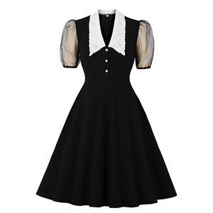 Retro Dresses for Women 1960, Vintage Cocktail Party Dress, Fashion Casual Office Lady Dress, Retro Party Dresses for Women 1960, Vintage Dresses 1950