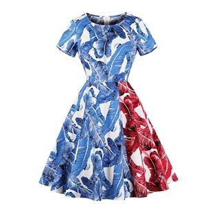 Retro Dresses for Women, Fashion Vintage Short Sleeve Dresses, Vintage Dresses 1950