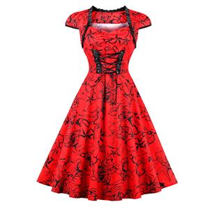 Retro Dresses for Women 1960, Cap Sleeve Vintage Dresses, Vintage Dress for Women, Sexy Dresses for Women Cocktail, Cheap Party Dress, Pinup Dress, #N14641