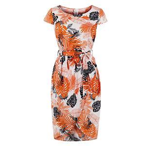 Cute Living Coral Tube Dress, Retro Dresses for Women 1960, Vintage Dresses 1950