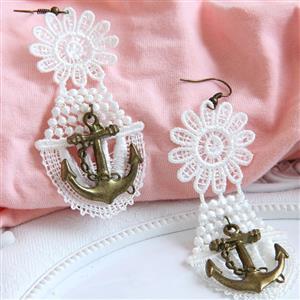 Retro Alloy Earrings, Gothic Style Earrings, Fashion Earrings for Women, Vintage Earrings, Casual Earrings, Vicorian Gothic Earrings, Fashion Lace Earrings, #J18425