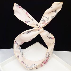 Women Headband, Wired Bow Headband, Headband For Woman, Hair Decor, Twist Bow Headband, Soft Twisted Headband, Vintage Floral Printed Head Wrap, #J14681