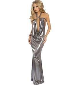 Vinyl Gown, Vinyl Clubwear, Sexy Vinyl Club Gown, #N1829