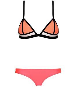 Fashion Sexy Watermelon Red Straps Patchwork Triangle Bikini Set BK10306