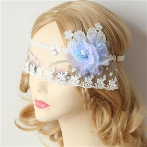 Halloween Masks, Costume Ball Masks, White Lace Mask, Masquerade Party Mask, Bride Wedding Party Masks, #MS12973