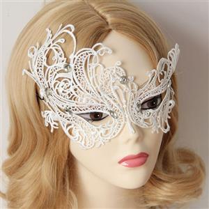 Halloween Masks, Costume Ball Masks, Black Lace Mask, Masquerade Party Mask, #MS12939