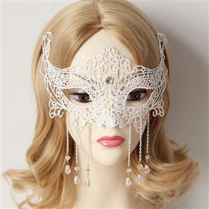 Halloween Masks, Costume Ball Masks, Black Lace Mask, Masquerade Party Mask, #MS12940
