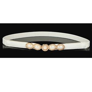 Luxury Pearl Waist Belt, Pearl White Waist Belt, Luxury Leather Waist Belt Silver, Waist Belt for Women, Fashion Dress Waist Belt, Pearl Girdle for Women, #N16933