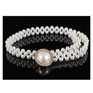Luxury Pearl Waist Belt, White Pearl Waist Belt, Luxury Thin Waist Belt for Ladies, Fashion Waist Belt for Women, Fashion Dress Waist Belt, Pearl Girdle for Women, #N16938