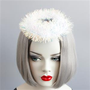 Halloween Witch Hat, Witch Cosplay Costume, Cosplay Accessory, Ghost Witch Hat, Witch Hat, Ghost Fuzzy Balls Witch hat, #J18806