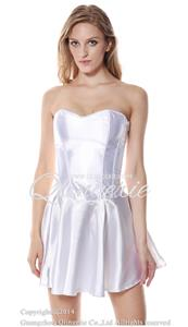 white wedding fit and flare corset dress n9172