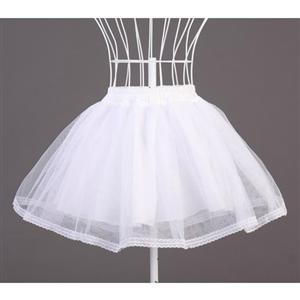 Sexy Skirt, Tulle Skirt, White petticoat, #HG4702