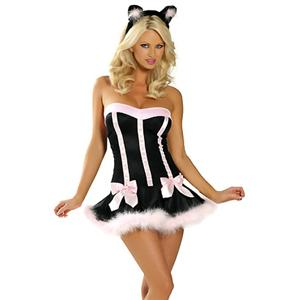 Black Cat Costume, Sexy Kitten Costume, Pussy Cat Costume, #CP0018