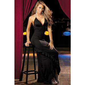 black gown, Sexy Night Gowns, sexy Gown, #GW1154