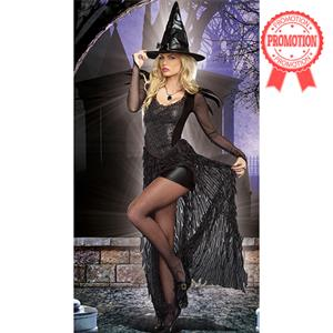 Black Enchantress Costume, Evil Queen Costume, Evil Witch Halloween Costume, The Bad Witch Costume,#N9176