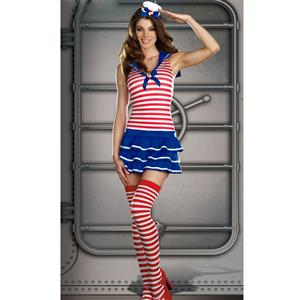 Windy Sails Sailor Costume, Sweet Sailor Girl Costume, Womens Sexy Sailor Costume, #M2121