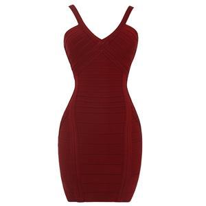 Sexy Bandage Dress for Women, Fashion Midi Bandage Dresses, Bodycon Bandage Party Dress, Shoulder Straps Bandage Dress, Women