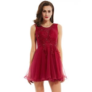 Sexy Homecoming Mini Dresses, Short Homecoming Dress Red, Tulle Party Dresses, Red Evening Dress, Hot Sale Tulle Homecoming Dresses, Cocktail Mini Tulle Dresses, #N15840