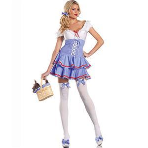 Dorothy Cutie Costume, Blue and White Dorothy Girl Costume, Gingham Dorothy Costume, #N9175