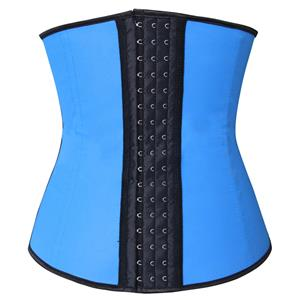 Latex Underbust Corset, Elastic Body Shaper Bustier, High Quality Blue Steel Bone Underbust Corset, Plus Size Corset, #N10242