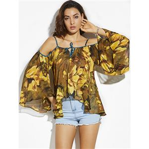 Tops for Women, Floral Print Tops, Spaghetti Strap Tops, Women