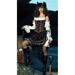 Deluxe Sultry Swashbuckler Costume, Deluxe Pirate Costume, Sexy Swashbuckler Costume, #N6676