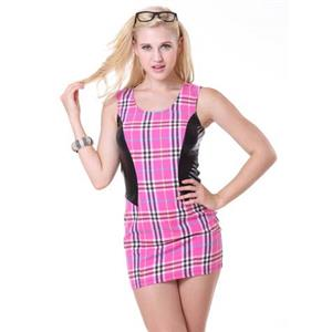 Sexy Tartan Dress, Hot Sale Women