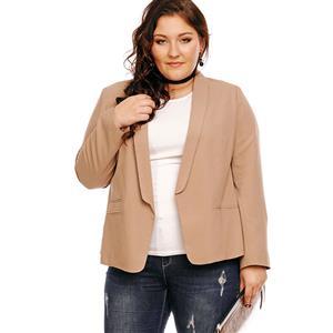 Plain Apricot Overcoat , Women