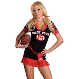 Football Costume, Rugby Football Costume, Touch Down Costume, Cheerleader Costume, Sport Costume, #N10452