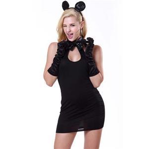 Fashion Sexy Black Mickey Mouse Costume, Women