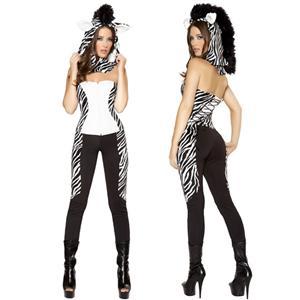 Wild Zebra Costume, Costume Zebra, Adult Zebra Costume, Womens Zebra Costume, #N4651