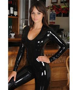 Womens Vinyl jumpsuit, Vinyl jumpsuits, Black jumpsuit, #N4665