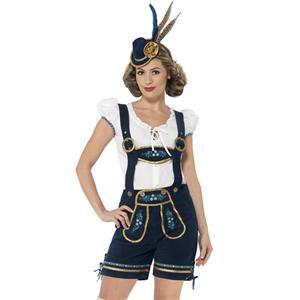 German Beer Beauty Costume, Oktoberfest Costume for Girl, Beer Girl Costume, Cow Girl Costume, Deluxe Bavarian Womens Costume, #N14602
